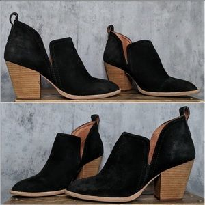 Jeffery Campbell Rosalee Black Suede Boot size 9.5